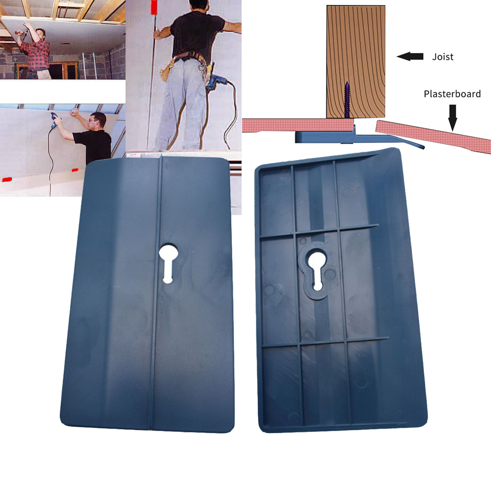 2pcs Drywall Fitting Tool Plasterboard Fixing Tool Supports The Board In Place Wall Carpenter Tool Ceiling Positioning Plate B4