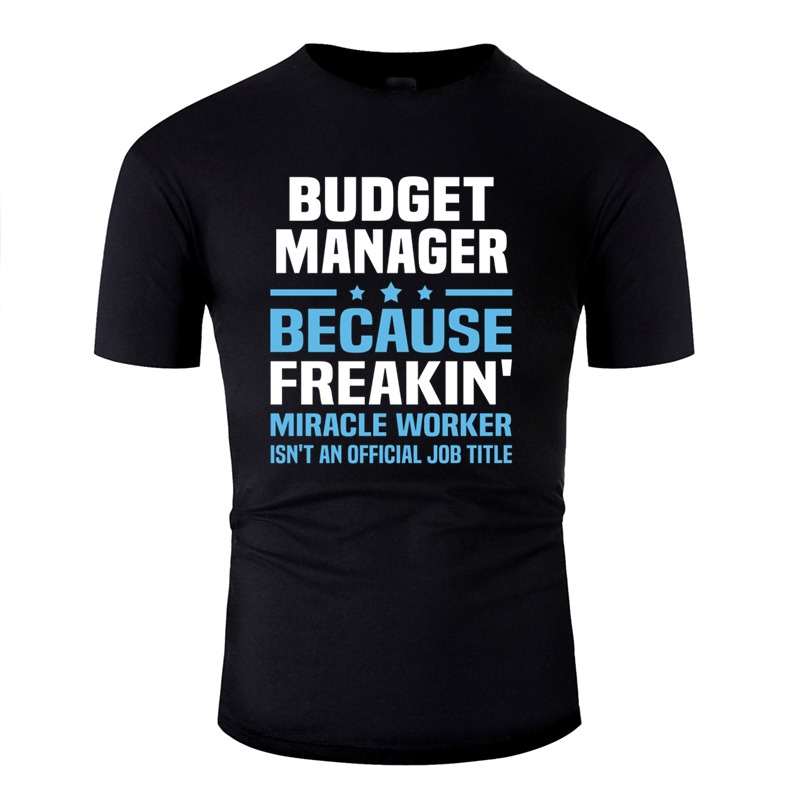 Comical Budget Manager T Shirt For Mens Homme Funny Budget And Policy Analyst Men's T Shirts 100% Cotton Short Sleeve Hip Hop image
