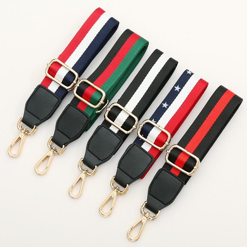 New Bag Strap Nylon Colored Belt Accessories Women Adjustable Fashion Shoulder Hanger Handbag Straps Decorative Handle Ornament
