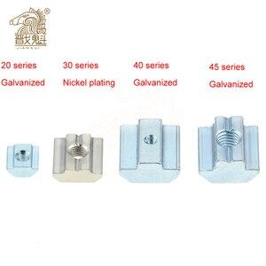 M3 M4 M5 M6 M8 M10 T Block Square nuts T-Track Sliding Hammer Nut for Fastener Aluminum Profile 2020 3030 4040 4545