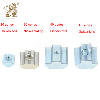 M3 M4 M5 M6 M8 M10 T Block Square nuts T-Track Sliding Hammer Nut for Fastener Aluminum Profile 2020 3030 4040 4545 peng fa 35 steel t nut sleeve steel t type sliding nut milling working table fixing t bolts t slot nuts set t slots nut for t tr