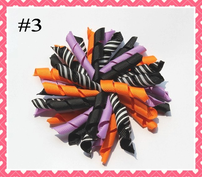 500 шт., изысканные банты для волос на Хэллоуин, банты для волос на День Благодарения, Осенние банты для волос, индейки