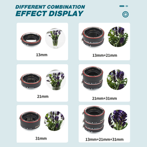 Image 5 - تبادل لاطلاق النار شمعدان معدني أحمر TTL التركيز التلقائي ماكرو تمديد أنبوب الدائري لكانون 600D 550D 200D 800D EOS EF EF S 6D لملحقات كاميرا كانون