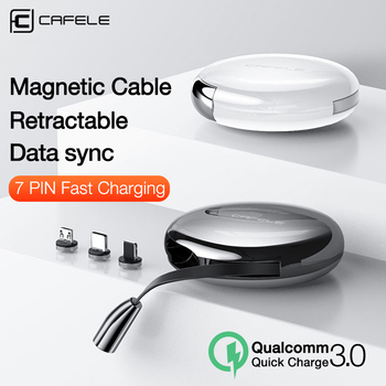 Cafele Luxury Magnetic Charging USB Cable for iPhone Type C Micro Retractable Charger Cable 120cm 3A Fast Charging USB C Cable