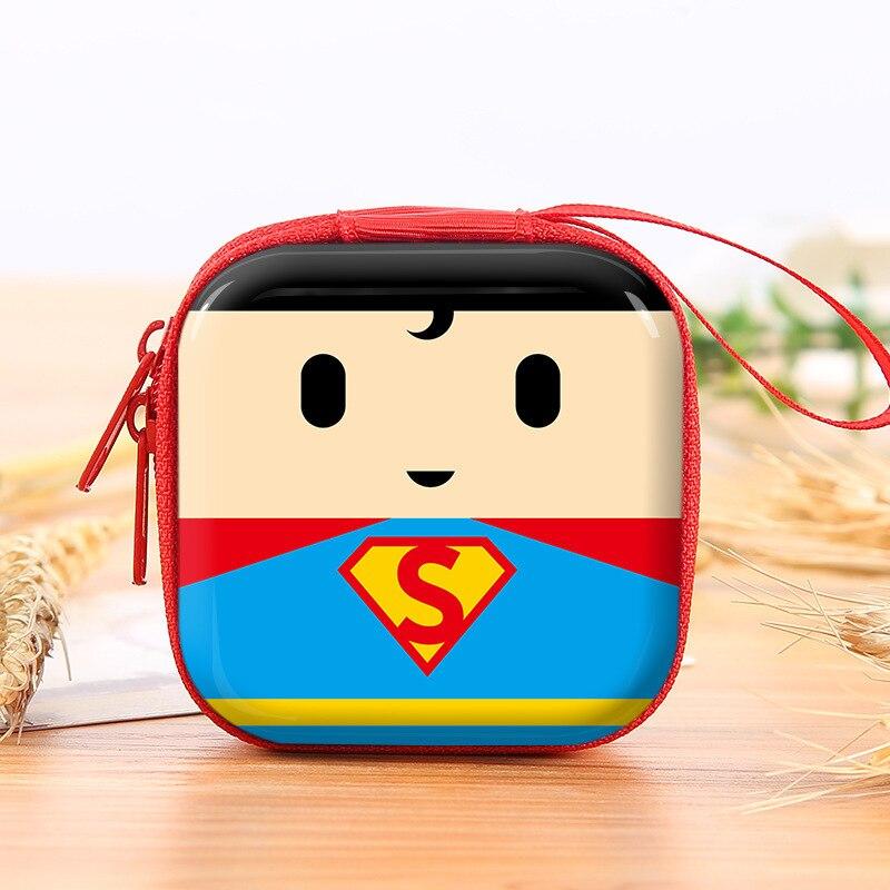 Superhero Cartoon Coin Purses Batman Captain America Boys Key Case Wallets Children Spider-Man Superman Headset Bag Coin Bags