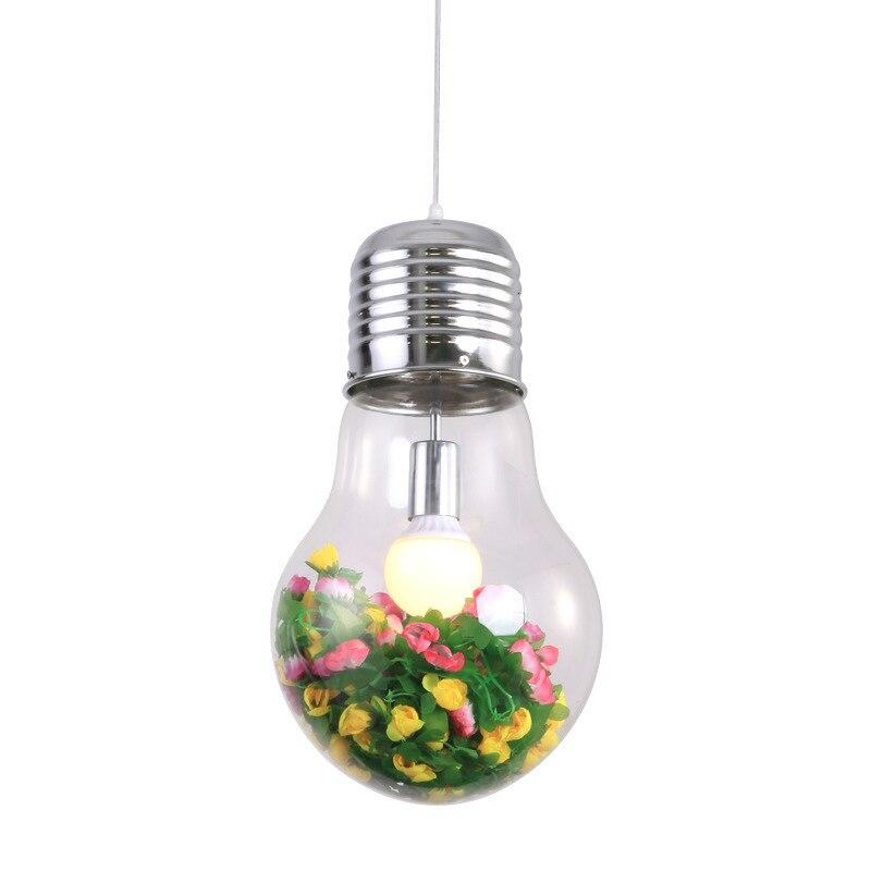 Decoration Bulb Green Botany A Chandelier Theme Restaurant Café Originality Internet Cafes Pub Bar Platform Lamps And Lanterns