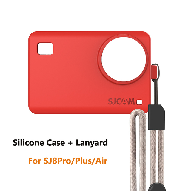 Silicone Case Cover for SJ8 Series SJ8 Pro/Plus/Air Sleeve Protector and Adjustable Lanyard For SJ8 4K Action Camera accessories