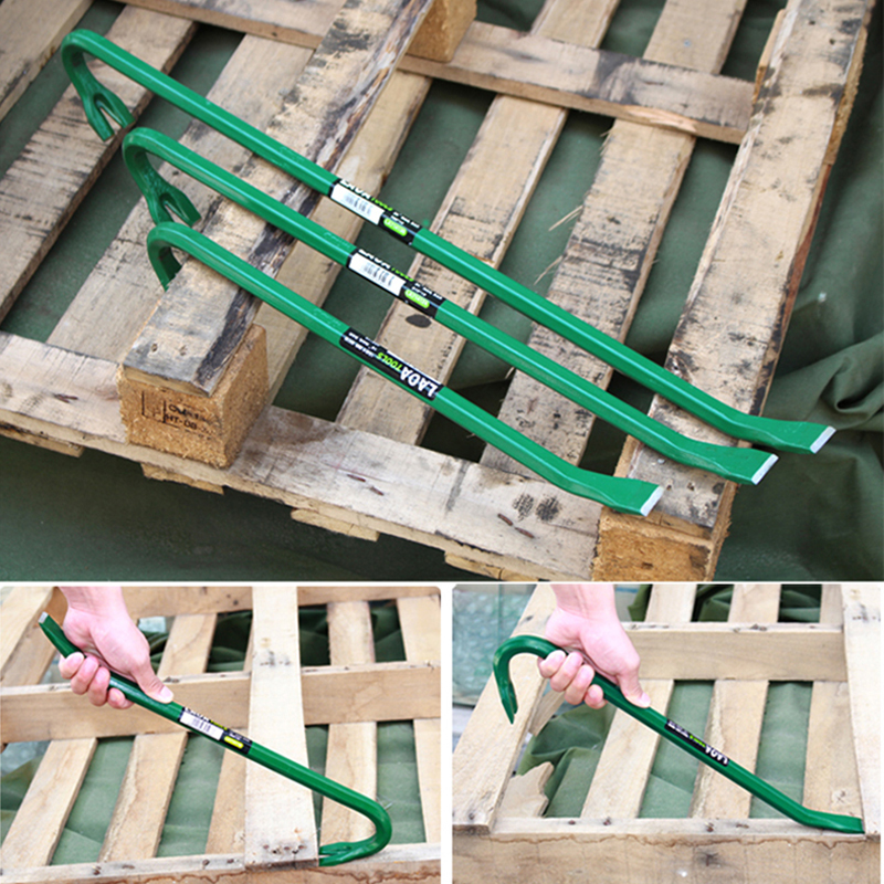 Heavy Disassembly Steel Carbon Wooden Bars Crowbar Box Lifter Iron LAOA Professional Tool High Nail