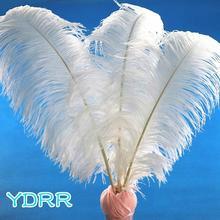 Preço barato de alta qualidade penas casamento avestruz plumas hotel mesa casamento centerpieces para festa decoração