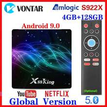 4GB RAM 128G ROM Amlogic S922X TV Box Android 9.0 Dual Wifi BT5.0 1000M 4K 60fps USB3.0 Google Play Store Youtube Media Player(China)