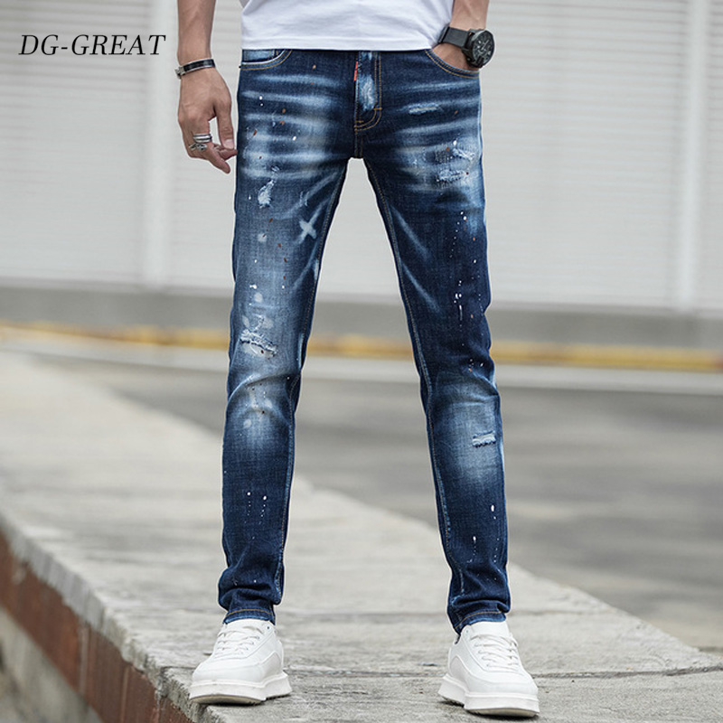 Man Jeans New Arrival Spring Autumn Leisure Slim Wild Fashion Men Blue Jeans Feet Straight Cowboy Trousers Srreetwear Jeans Men