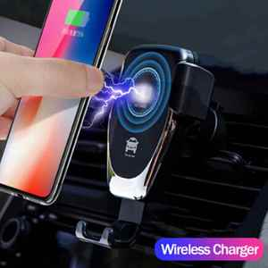 Image 2 - Fast 10W QI Wireless Charger Car Mount Holder Stand For iPhone XS Max Samsung S9 For Xiaomi Mi 9 Huawei Mate 20 Pro Mate 20 RS