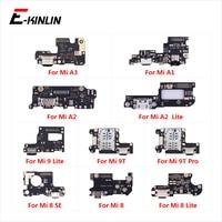 Lade Port Connector Board Teile Flex Kabel Für XiaoMi Mi 9T Pro 9 8 SE A3 A1 A2 Lite-in Handy-Flex-Kabel aus Handys & Telekommunikation bei