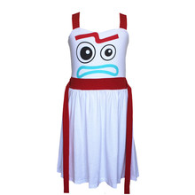 Girls Forky Dress Comfy Soft Toy Story font b Halloween b font Cosplay Princess Party Bo