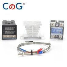 CG REX-C100 Digital Temperature Controller Thermostat K Type SSR output 40DA SSR Relay K/J Screw M6 1m Thermocouple Probe RKC