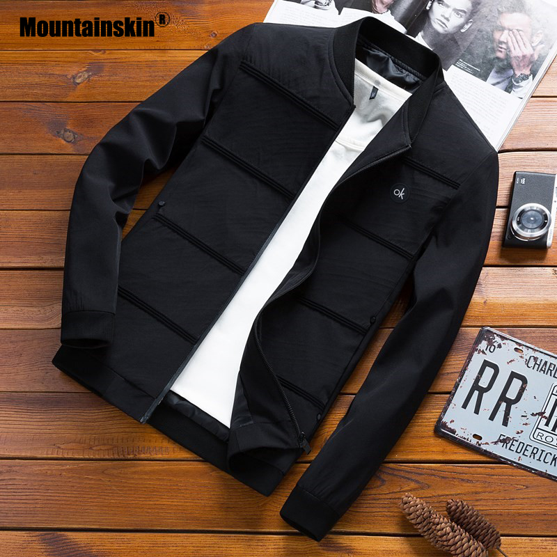 Mountainskin Spring Jackets Mens Pilot Bomber Jacket Male Fashion Baseball Hip Hop Coats Slim Fit Coat Brand Clothing SA679