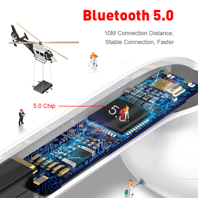 Wireless Headset inPods 12 TWS Touch Key Bluetooth 5.0 Sport Earphone Stereo For iPhone Xiaomi Huawei Samsung Smart Phone 2