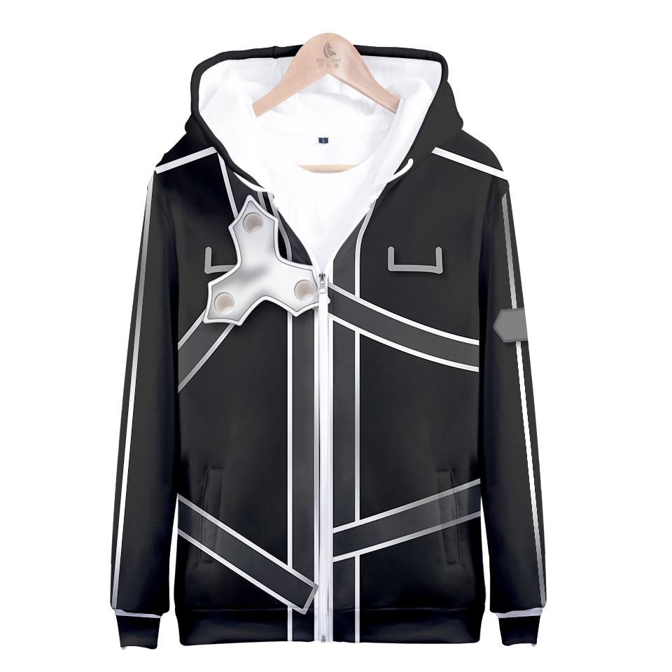 New Unisex Anime Sword  Art Online SAO Clothing Cosplay Sweater Hoodie cotton
