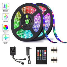 RGB 5050 Music LED Light Bar Set 5 Meters 150 Lights / 10 Meters 300 Lights Waterproof Remote Control Voice Control Light Strip