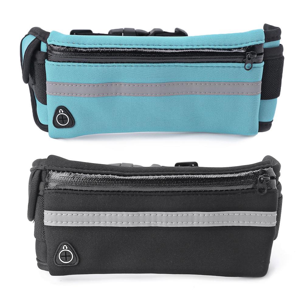 1Pc Running Sport Waist Belt Pocket Bum Bag Phone Pouch With Earphone Hole Jogging Pack Cycling Bag Waist
