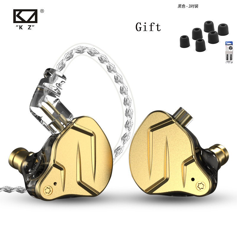 Kz Zsn Pro In Ear Earphones 1ba+1dd Hybrid Technology Hifi Bass Metal Earbuds Earphones Sport Noise Bluetooth Cable For ZSX ZAX