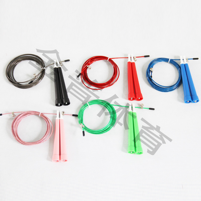 Speed Jump Rope Profession Racing Game Practice Lanyard Speed Steel Wire Jump Rope   Lengthen Handle Jump Rope Pattern Speed Jum