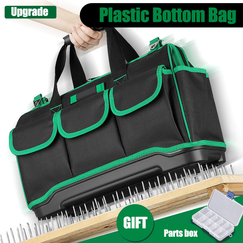 2020 New Upgrade Tool Bag Dual-use Foldable Electrician Bag Multifunction Repair Installation Canvas Large Thicken Work Pocket