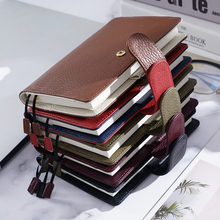 Diary Planner Stationery Notepad Journal Agenda Organizer Big-Pocket Small Genuine-Leather