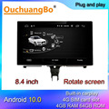 Ouchuangbo Android 10 auto radio multimedia player recorder für 8,4 zoll S7 S6 A7 A6 C7 RS6 RS7 2012-2018 unterstützung MMI 8 core GPS