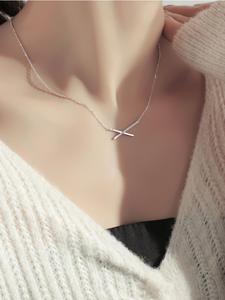 Женское Ожерелье с геометрическим узором ONEVAN, модное ожерелье из стерлингового серебра 925 пробы с цирконием ААА, подарок, простые ювелирные ...