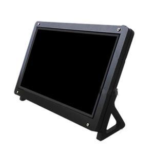 """Image 5 - Pojemnościowy ekran dotykowy LCD ekran dotykowy dla Raspberry Pi 4B/3B/3B + 7 """"1024*600 HDMI pojemnościowy ekran dotykowy napęd USB za darmo dla BB czarny"""