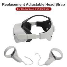 Cabeça de substituição ajustável cinta bandana para oculus quest 2 vr óculos fone de ouvido suporte para quest2 acessórios de realidade virtual #
