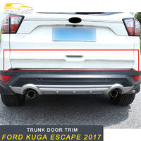 GELINSI Rear Door Trunk Decoration Cover Trim Frame Sticker Exterior Accessories For Ford KUGA Escape 2017 2018 Car Styling