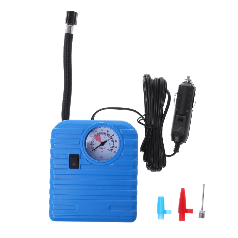 12V Portable Tire Inflator Pump Car Air Compressor Pump Auto High Pressure Pump