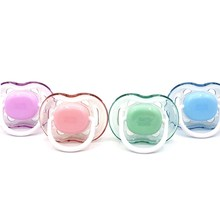 Baby Nipple Pacifier Silicone Teether-Care Newborn Infant Safe 1pcs Orthodontics Round-Head