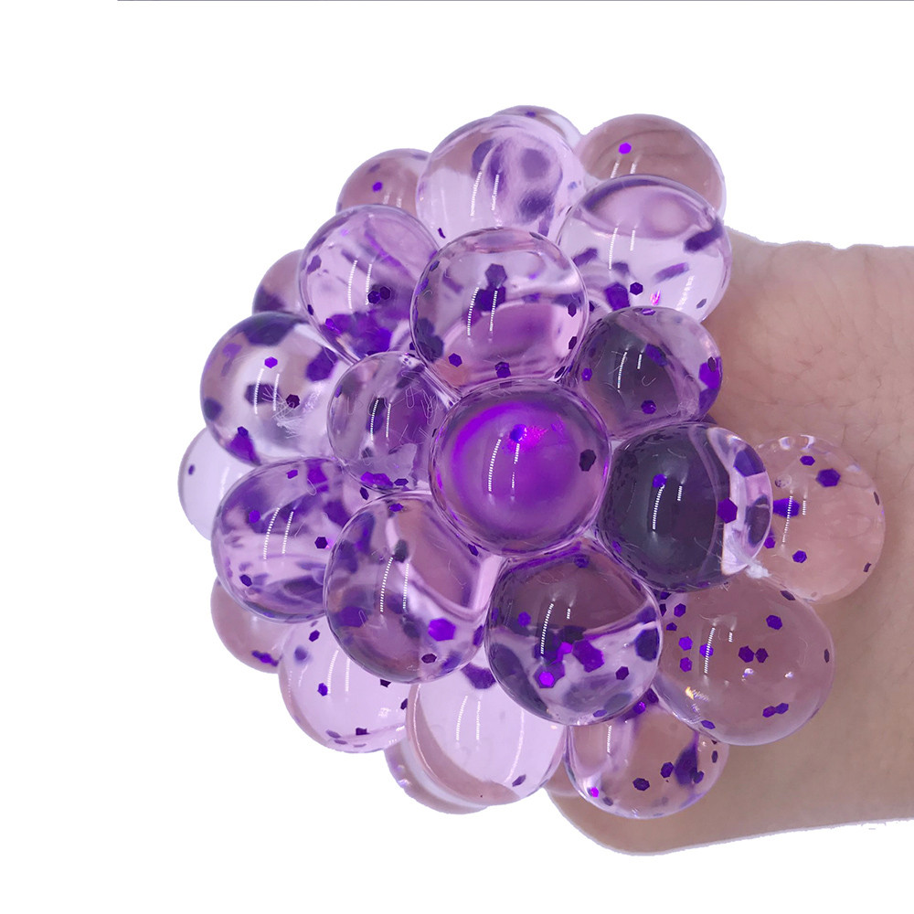 Toys Mesh Ball Squeeze-Grape Anti-Stress Fidget Gifts Things Prank Funny Adults Colorful img2