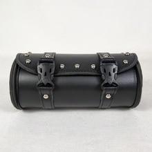 1 х мотоциклетная передняя вилка сумка для инструментов сумка для багажа седельная сумка черная кожа