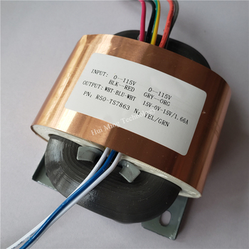 15V-0-15V 1.6A  R Core Transformer R50 50VA custom transformer 2*115V/220V with copper shield Pre-decoder Power amplifier
