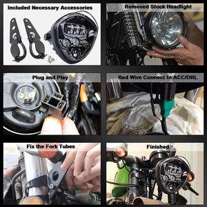 Image 2 - 유니버설 오토바이 헤드 라이트 (브래킷 클램프 포함) 포크 튜브 용 97.4 ~ 135mm Harley Honda Yamaha Suzuki