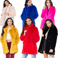 Faux fur jacket 2019 new womens tops pink fur coat plus size fur jacket faux fur coat Loose fluffy soft rabbit hair furry coat