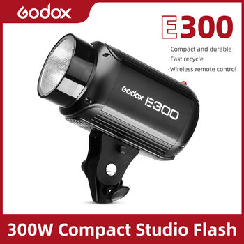 Godox E300 300W Photography Studio Strobe Photo Flash Light Studio Flash image