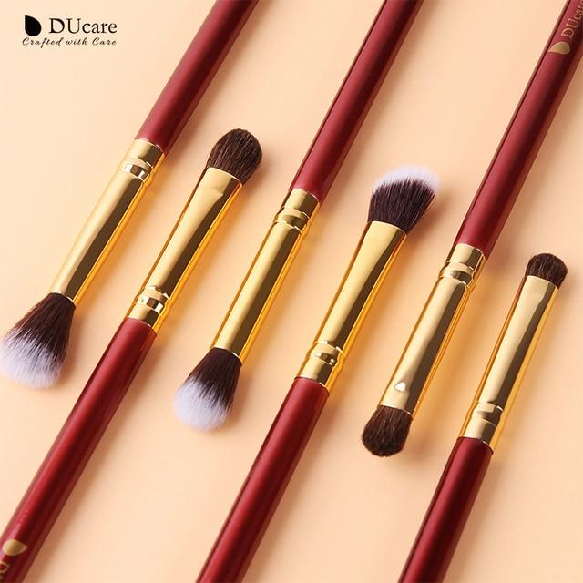 DUcare Makeup Brushes 6/7PCS Eye Makeup Brush Set Eyeshadow Blending Eyebrow Brush Natural Hair Cosmetic Tools Kit Essential 2