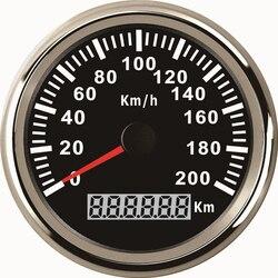 85mm Waterproof GPS Speedometer 120 km/h 200 Km/h Speed Meter Gauge for Car Motor Motorcycle Marine With Backlight