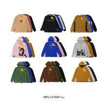 Design de inflação hoodies de lã dos homens hoodies de hip hop hoodies & moletom para homem solto ajuste hoodies masculinos desconto casal hoodies