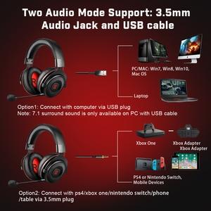 Image 5 - EKSA E900 Pro Virtual 7.1 게임용 헤드셋 유선 헤드폰 PS4/PC/ Xbox/ Phone 용 소음 차단 마이크가있는 오버 이어 헤드셋 게이머
