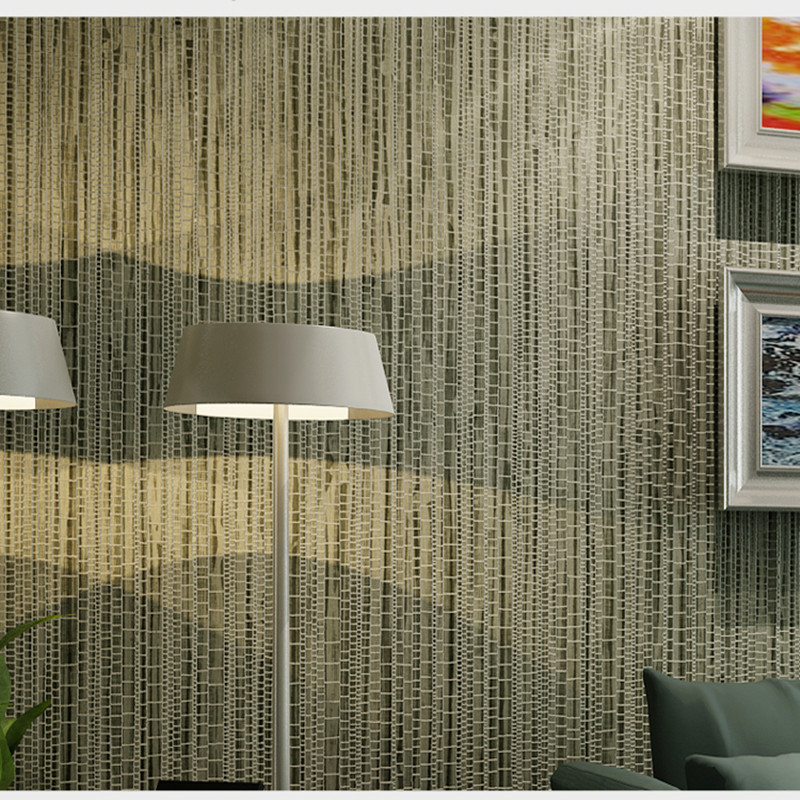 Modern Chinese Style Plain Color Faux Straw Non-woven Wallpaper Bedroom Living Room Library Hotel Khaki Foaming Wallpaper