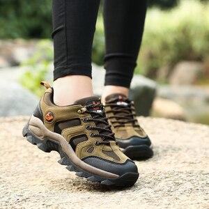Image 2 - COOLVFATBO askeri taktik botları erkekler için deri açık havada yuvarlak ayak ayakkabı erkek rahat tırmanma yürüyüş ayakkabıları artı boyutu 36 47