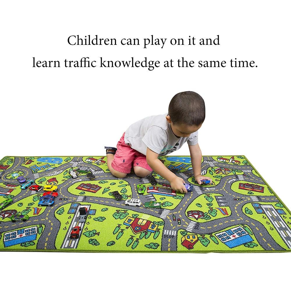 Детский Дорожный Коврик для парковки автомобиля, разноцветный игровой коврик, игрушечные безопасные игровые коврики, дорожный Дорожный Ко...
