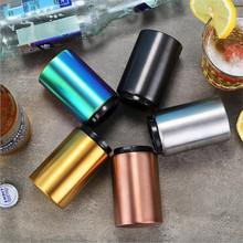 Magnetic Automatic Beer Opener Stainless Steel Bottle Opener Portable Magnet Wine Openers Bar tools stainless steel wine beer bottle opener with wood handle