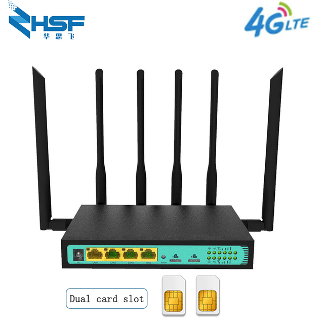 192.168.1.1 3g4g tarjeta SIM dual router industrial led 4g LTE módem CAT6WiFi router de banda ancha VPN EP06 router con tarjeta SIM ranura